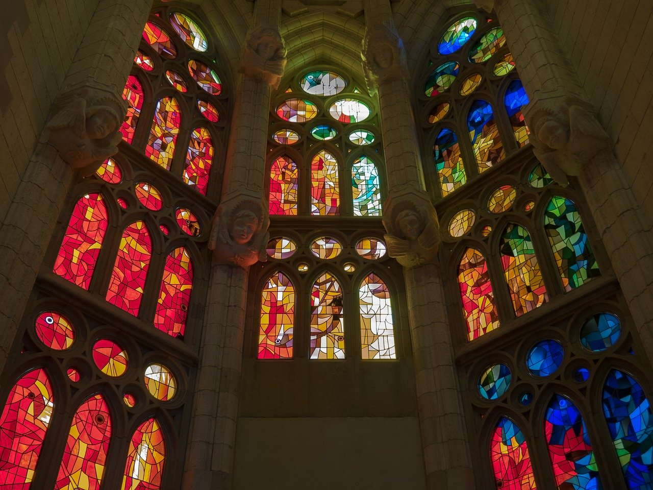Interiors of Sagrada Familia