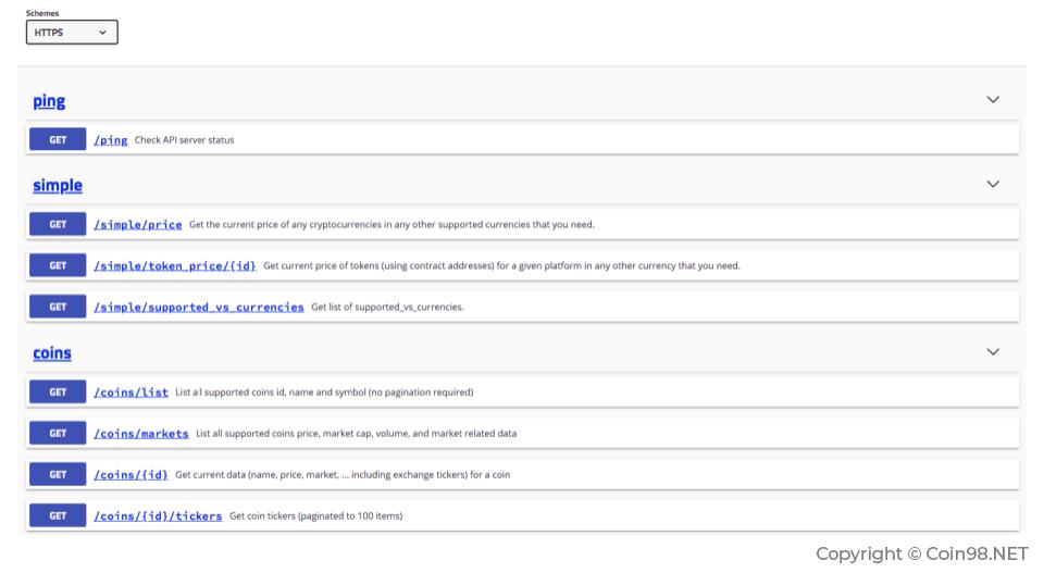 Cách lấy API của CoinGecko