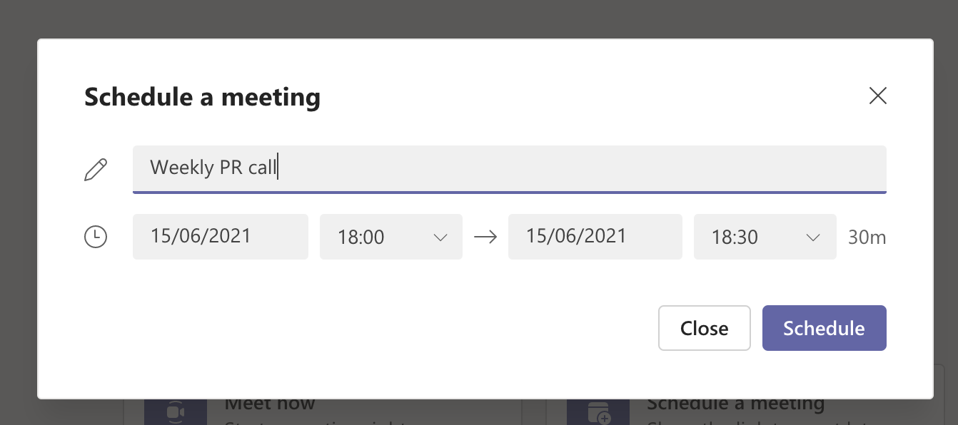How to schedule a meeting on Microsoft Teams