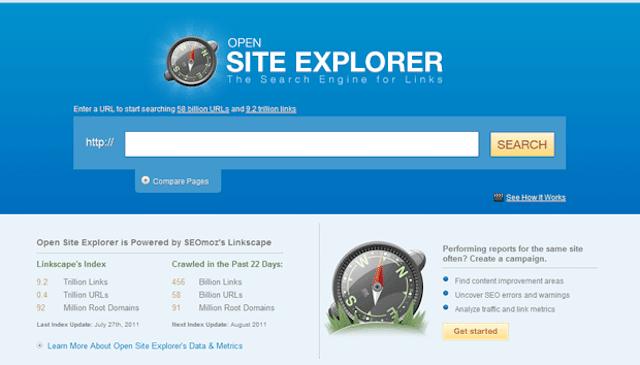 Open Site Explorer là phương tiện nghiên cứu liên kết tốt nhất năm 2020
