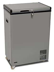 18. FM-951GW - Whynter 95 Quart Portable Wheeled Refrigerator / Freezer with Door Alert and 12v Option - Gray