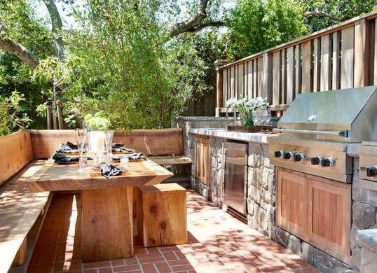 amazing outdoor kitchen idea made from oak and readwood