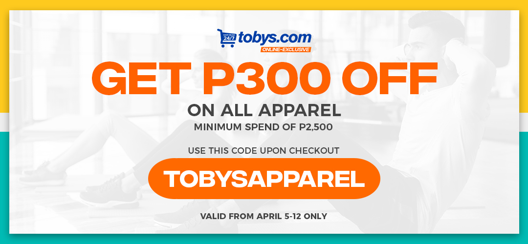 Shop at Toby's Sports at a Discount Price! FreebieMNL EXCLUSIVE