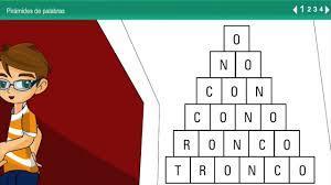 Actividades dislexia y lectoescritura Pirámide de palabras - YouTube