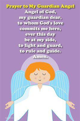 Happy Saints Prayer Posters: Happy Saints Guardian Angel Prayer ...