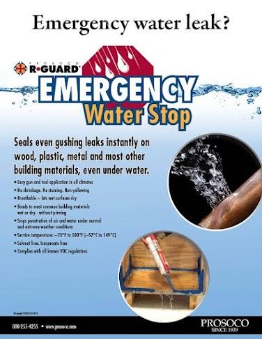 Sell sheet on emergency waterstop