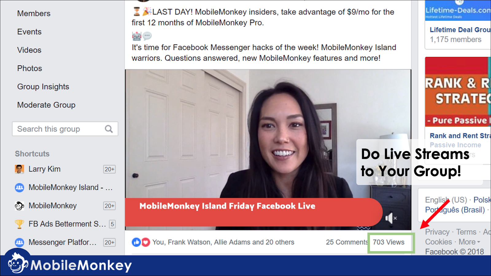 live stream to increase engagement on Facebook