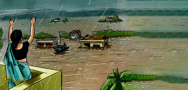 The animated image shows a glimpse of a huge loss of mankind in Kerela flood 2018