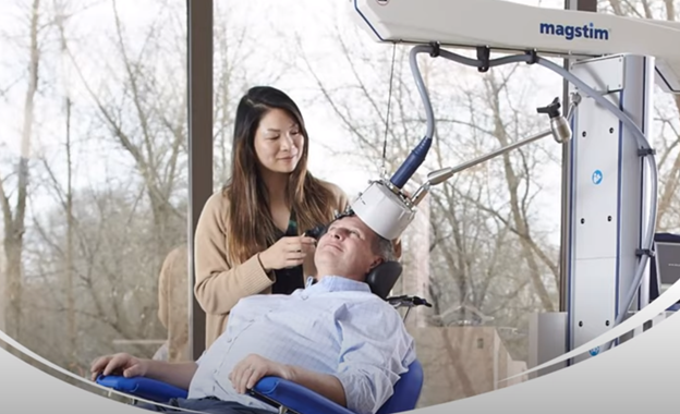 Demonstrating the TMS therapy in a private practice