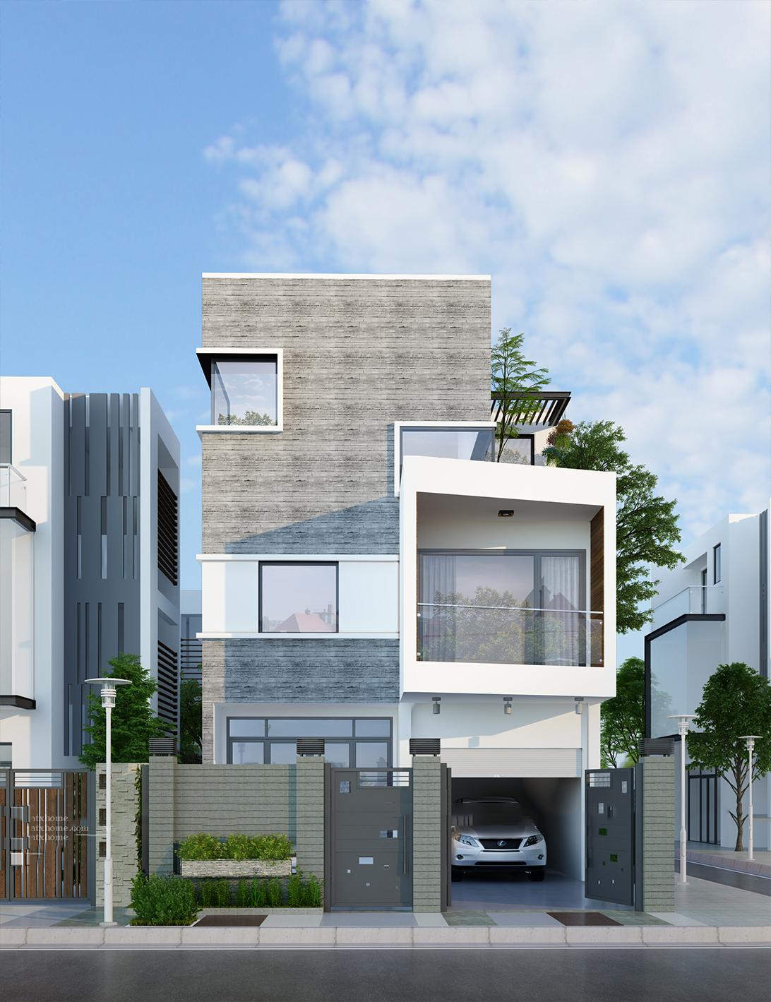 nhà phố hiện đại 3 tầng