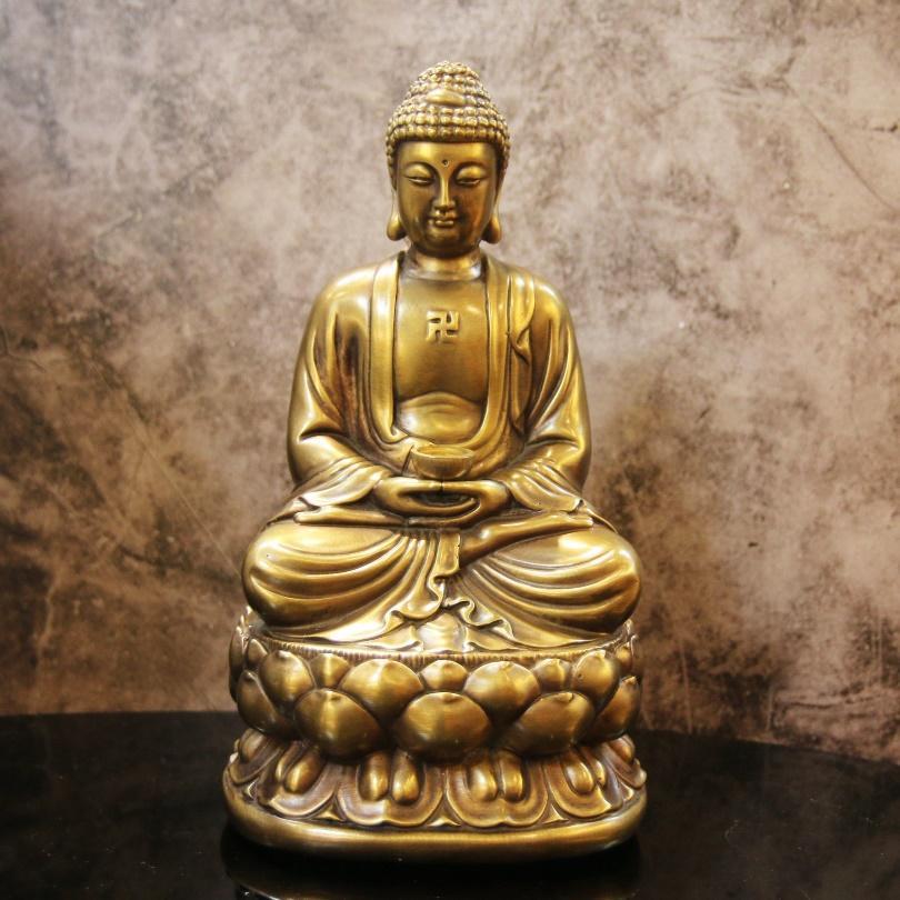 Tượng Phật A Di Đà Bằng Đồng Lê Gia - Tượng Phật Hãng Đồ đồng Lê Gia |  NoiThatThanhDo.com