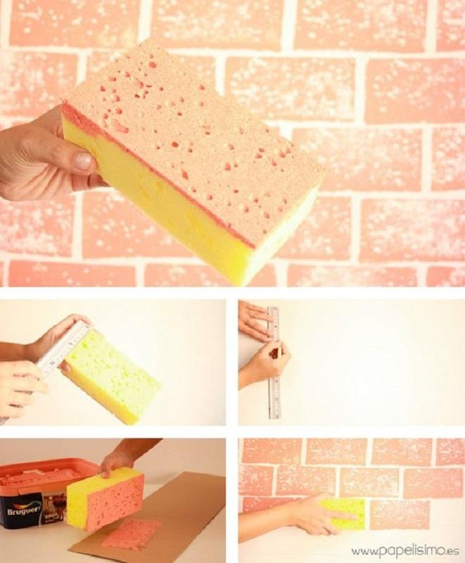 19 Cara Mengecat Dinding Bercorak Kreasi Cat Tembok Terunik