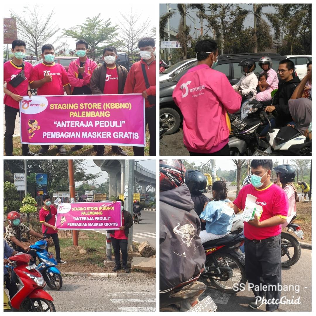 Anteraja Regional Sumatera melawan asap