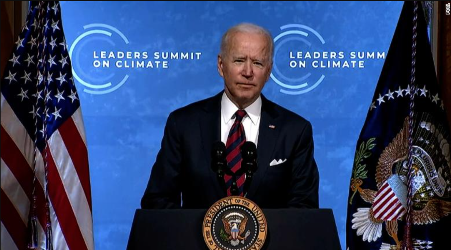 Image of President Biden at Leaders Summit On Climate