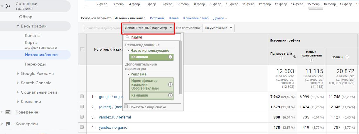 Как добавить дополнительную метку в Google Analytics