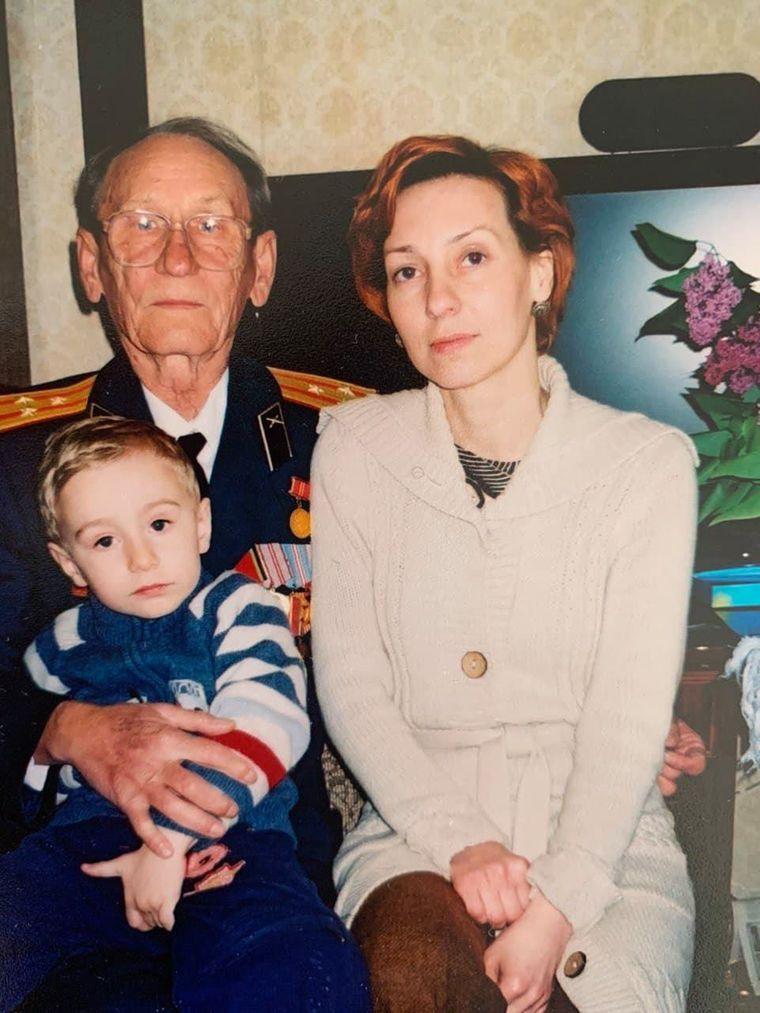 Виктория Стахова вместе со свекром Александром