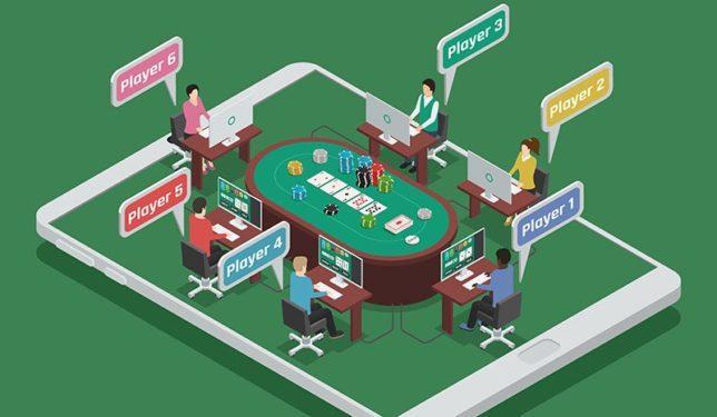 在手机上玩扑克