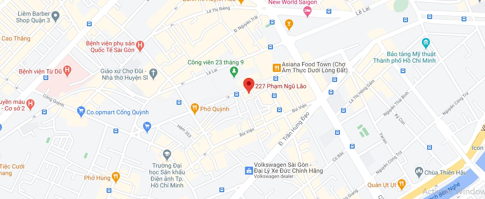 Địa chỉ Văn phòng nhà xe Trà Lan Viên tại Sài Gòn