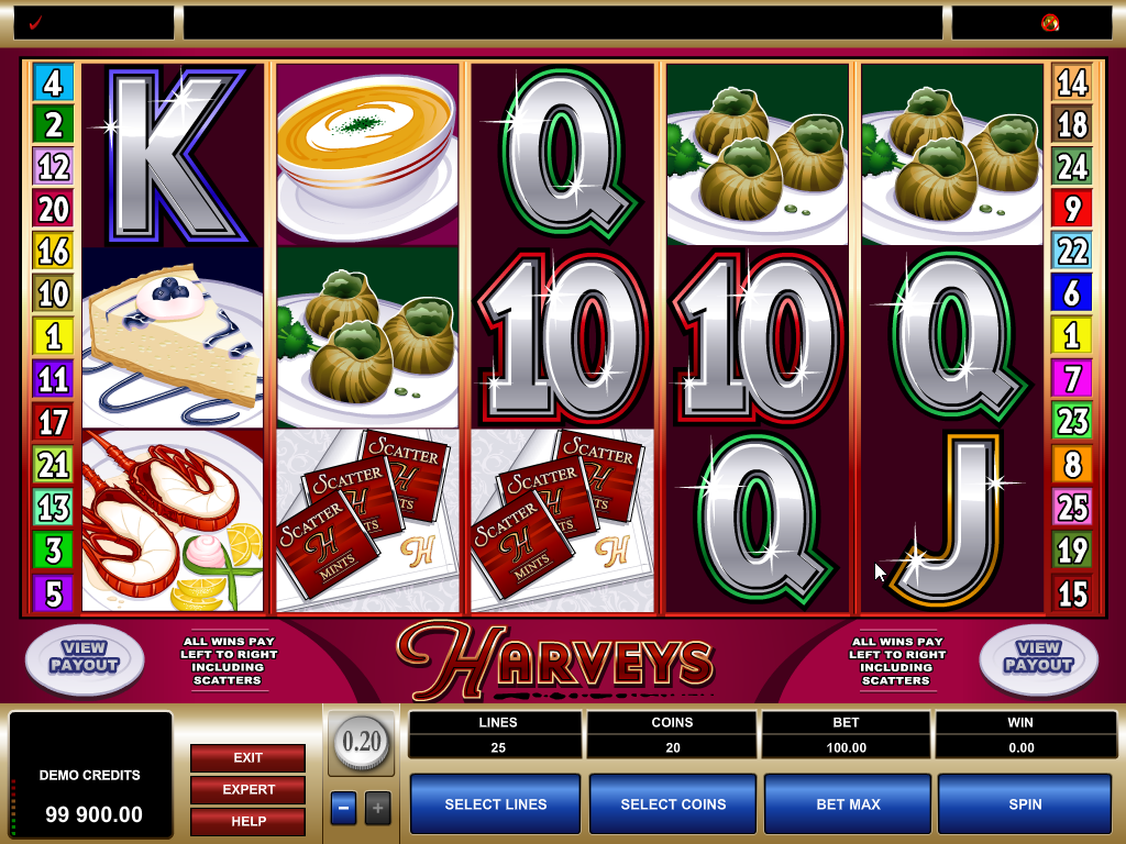 Harveys Slots Machine Review
