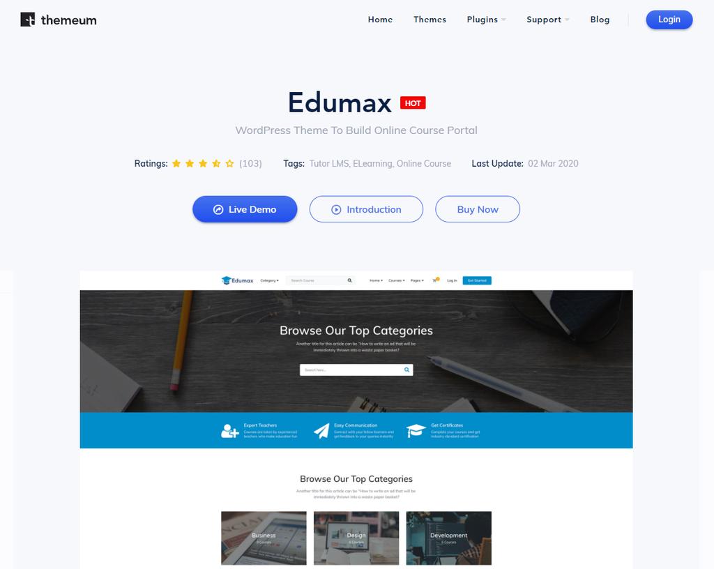 Edumax tema sayfasi