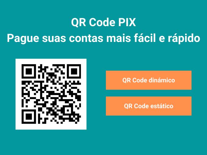 Pague suas contas com QR Code PIX