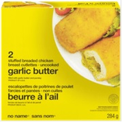 No Name brand Garlic Butter Stuffed Breaded Chicken Breast Cutlettes - Uncooked - 284 grams