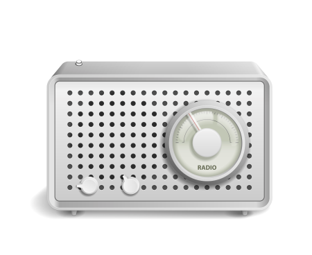 Retro Radio icon isolated on white background