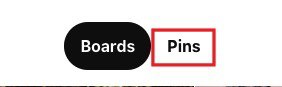 "Click on the ""Pins"" button"