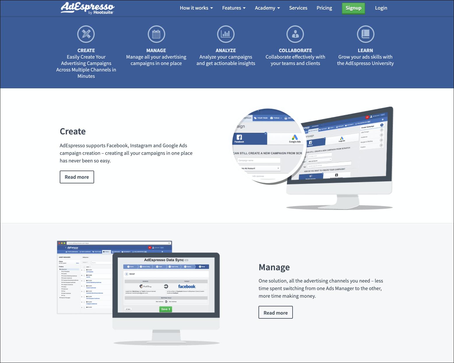 AdEspresso Facebook Advertising Tools
