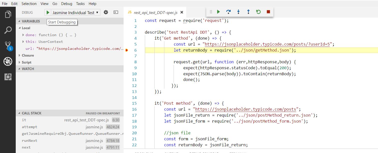 Debugging JS code with Visual Studio Code - QA tech