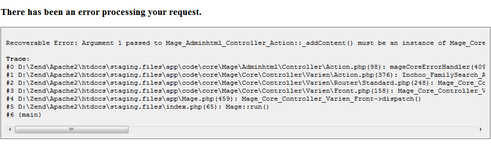 Exception printing is disabled by default for security reasons Magento 2