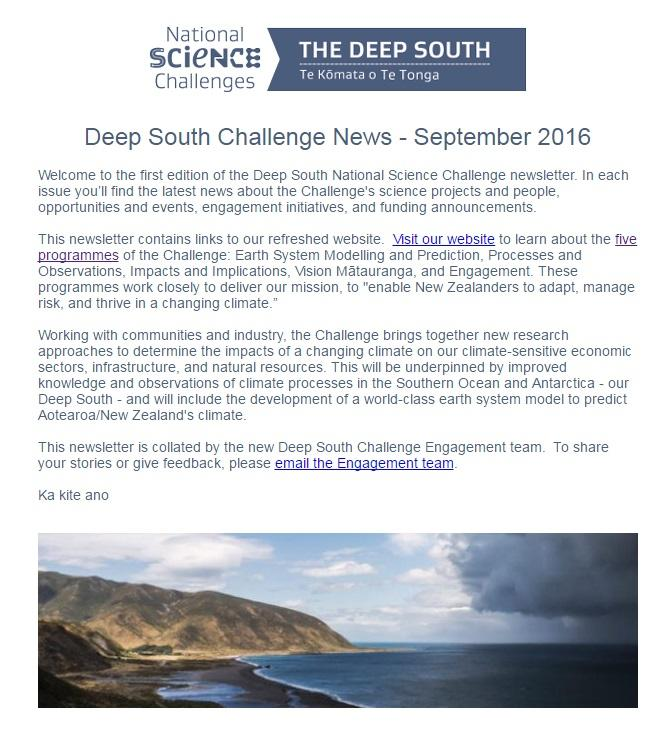 Latest Deep South Challenge Newsletter Deep South Challenge