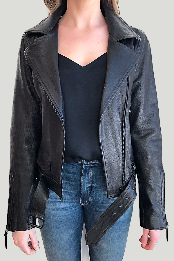 bano eemee black leather jacket