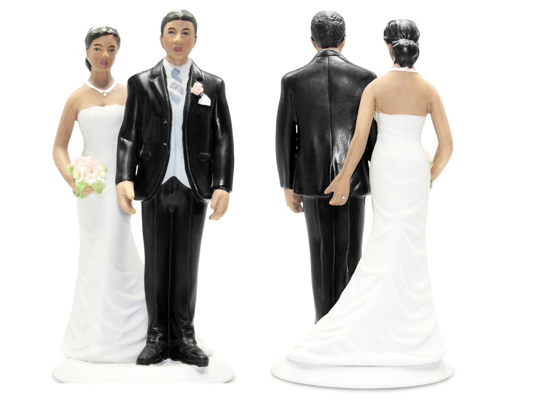 The love pinch wedding cake topper
