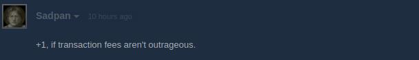 """comentário de usuário da steam: """"apoio, desde que taxas não sejam ultrajantes"""""""
