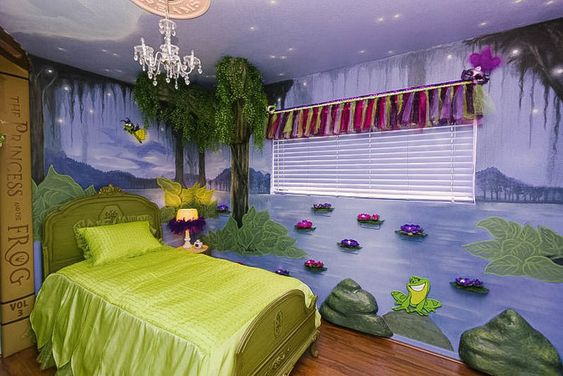 Princess Tiana and the Frog Princess Bedroom Ideas