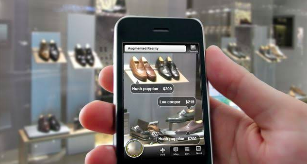 purchasing shoes through ai on smartphone