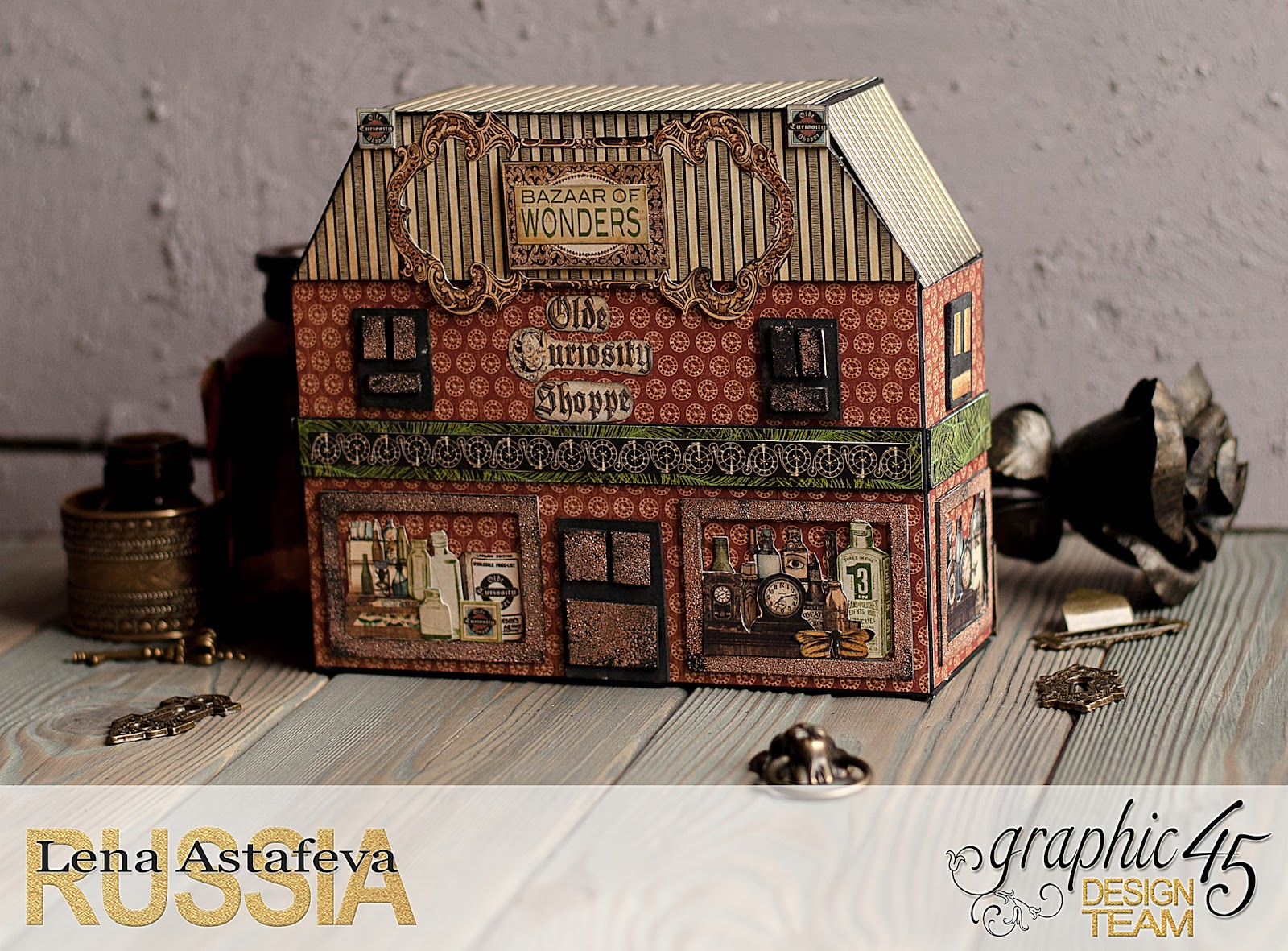 Olde Curiosity Shoppe-Album and Shoppe-tutorial by Lena Astafeva-products by Graphic 45-6.jpg