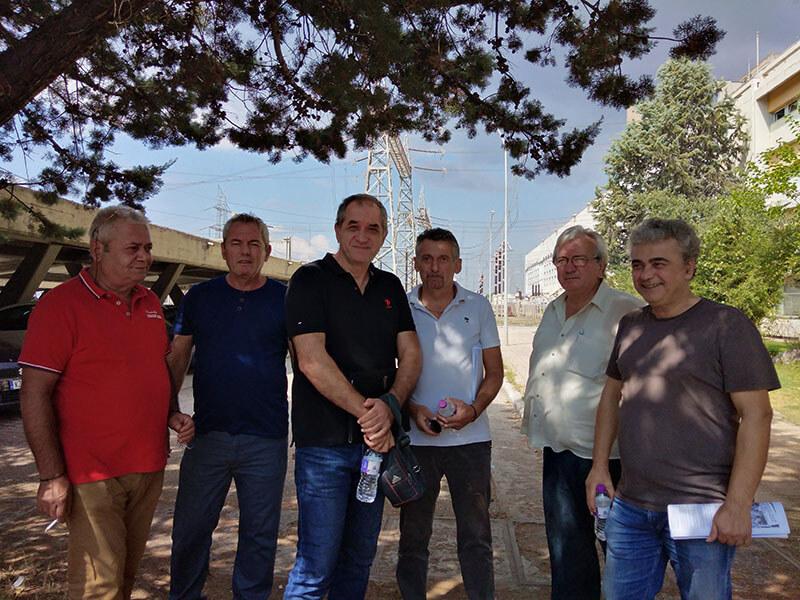 Περιοδεία του Βουλευτή του ΚΚΕ Γιάννη Δελή σε χώρους εργασίας στην ΔΕΗ Α.Ε στην Κοζάνη