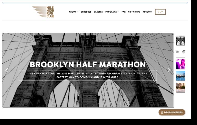 Mile High Run Club website screenshot