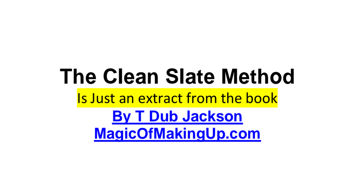 The Clean Slate Methodpdf