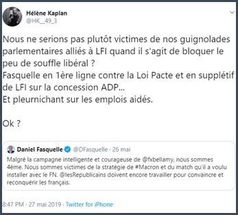 Tweet Hélène Kaplan Nous ne serions pas plutôt victimes de nos guignolades