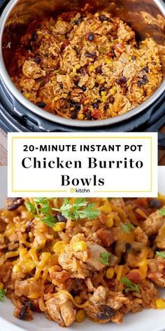 Instant Pot Weeknight Chicken Burrito Bowls | Kitchn