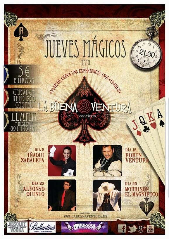 Cartel Jueves Mágicos La Buena Ventura mayo 2014