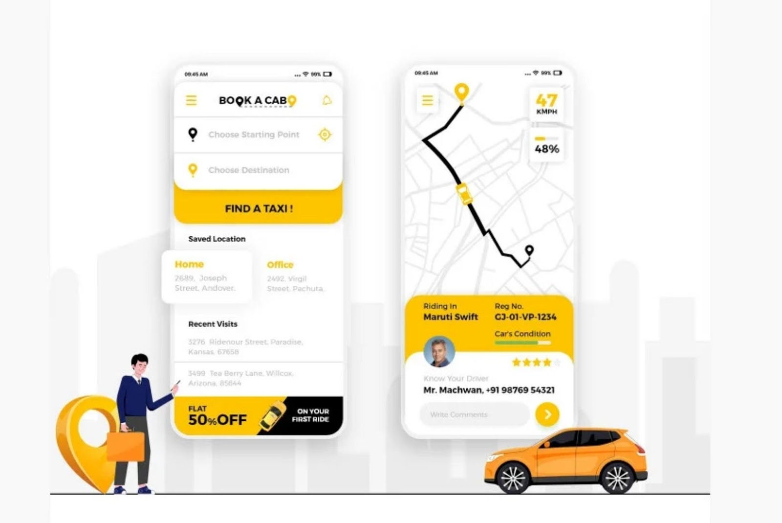Cab Booking app with voice assistance