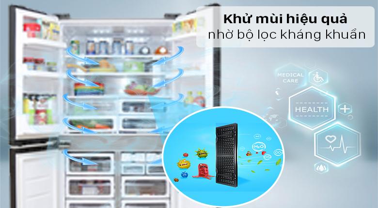 Tủ lạnh Sharp Inverter 572 lít SJ-FX640V-SL - Khử mùi hiệu quả