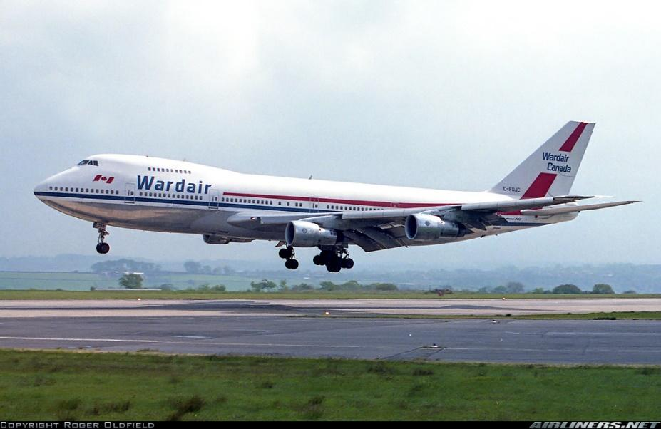 Image result for wardair 747