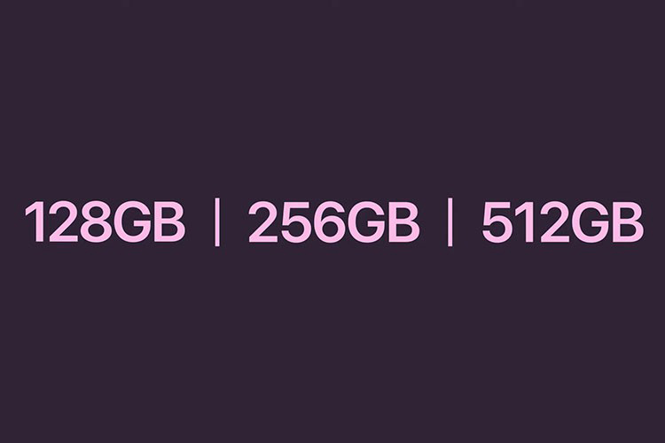 Dung lượng iPhone 13 thấp nhất 128GB