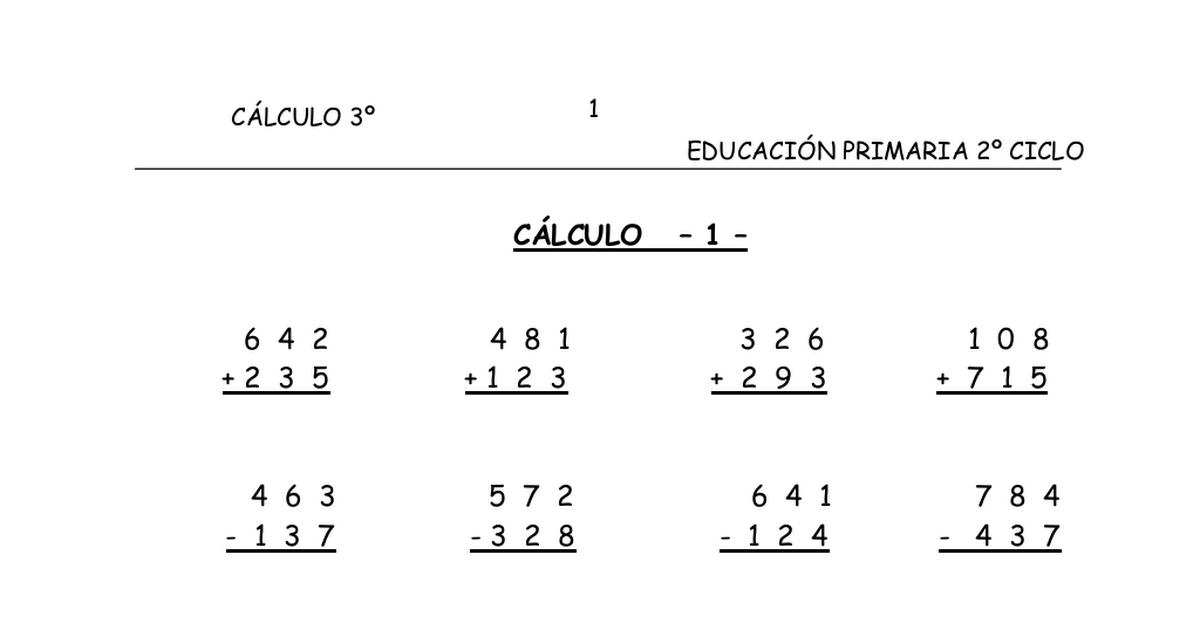 Cuaderno C 225 Lculo 3 186 Primaria Por Temas Pdf Google Drive