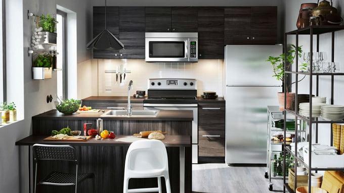 Nội thất phòng bếp trong bản vẽ thiết kế nhà ống 3 tầng